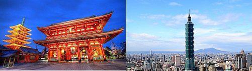 Tokyo, Japan and Taipei, Taiwan