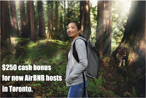 AirBNB cash bonus for new hosts in Toronto
