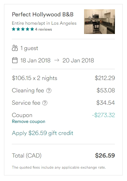 Airbnb discount coupon 2018