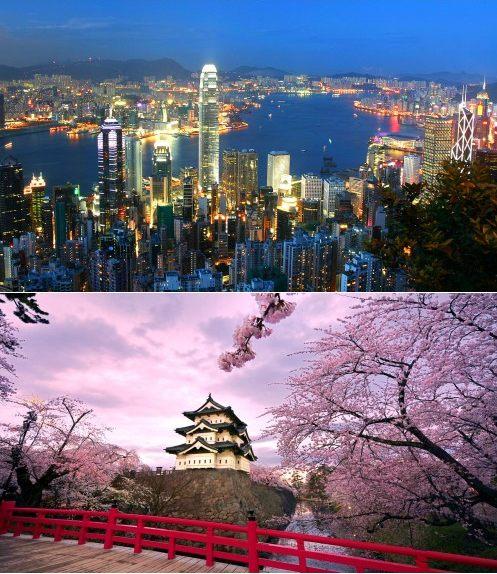 Hong Kong and Tokyo, Japan