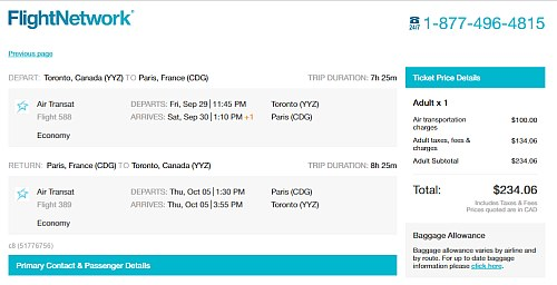 momondo flyreise til paris